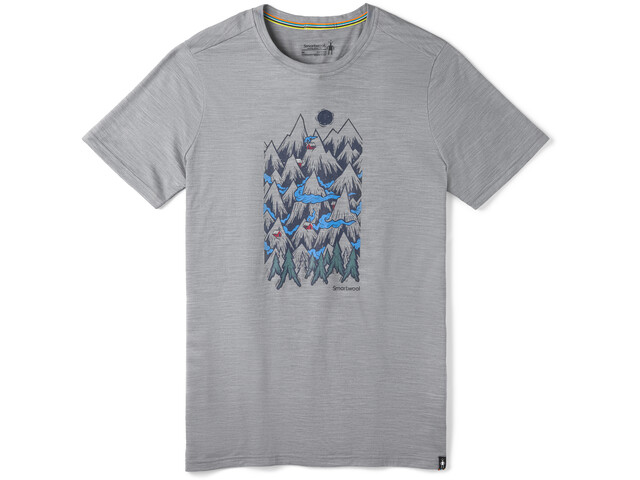 Smartwool Merino Sport 150 Mountain Ventures Camiseta Hombre, light gray heather